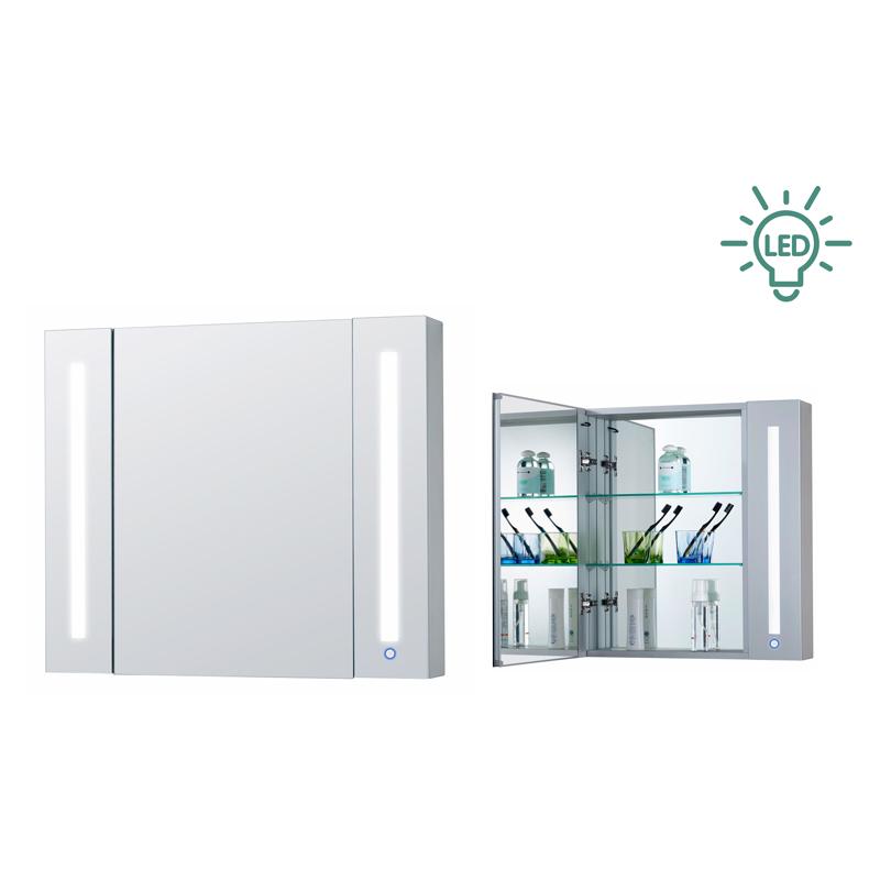 铝合金镜柜较为经典,可以创建出不同的浴室风格